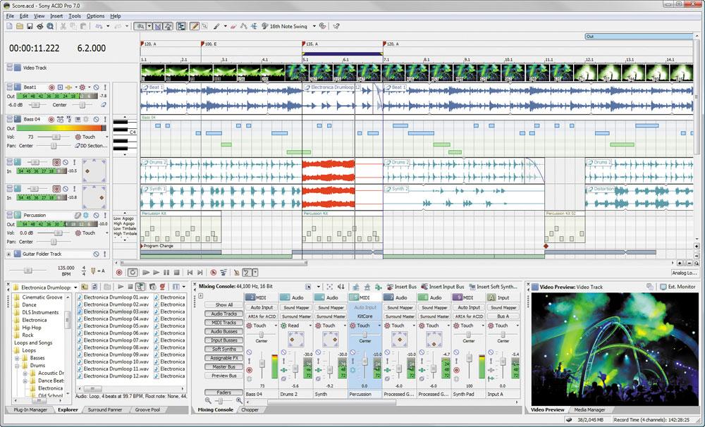 ACID Pro 7 представляет собой новейшую версию популярного продукта от компа
