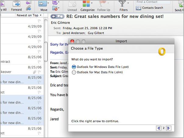unread mail outlook mac 2011